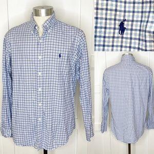 Ralph Lauren Polo Oxford Button Down Shirt Plaid